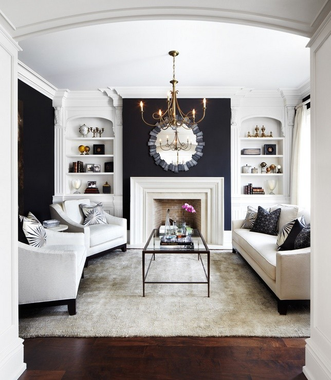Black and white livingroom decoration