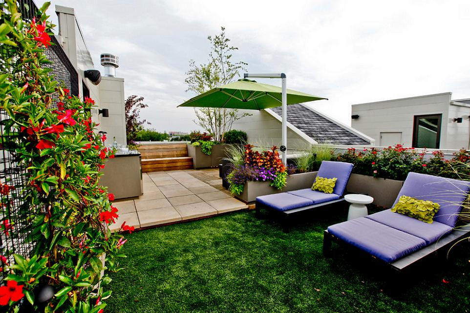 Terrace on the roof