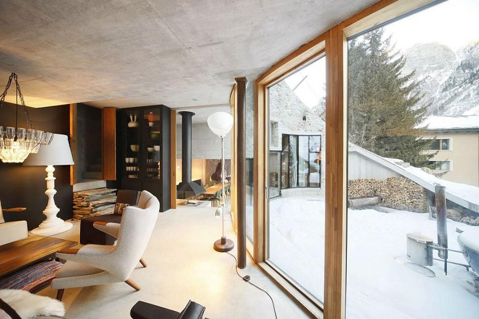 Alps Villa Vals access