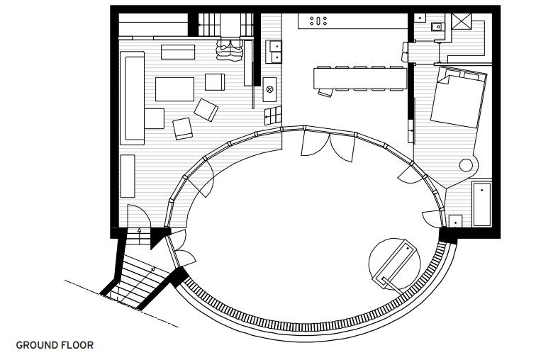 Plans Villa Vals - Ground Floor