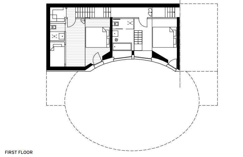 Plans Villa Vals - First Floor