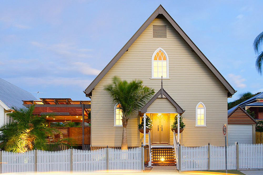 Church transformed into a house