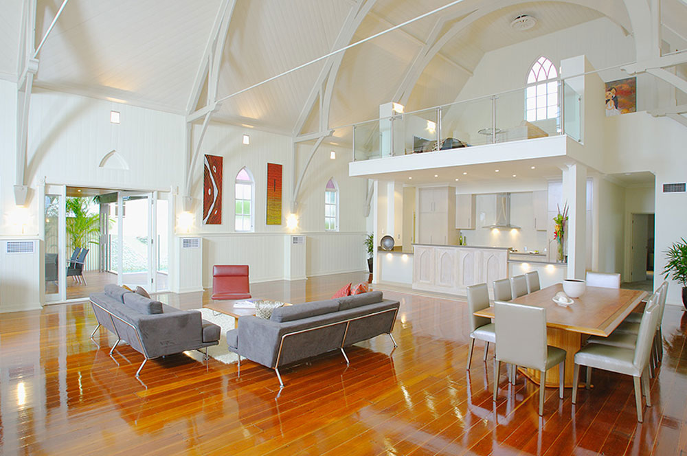 Church converted into a house