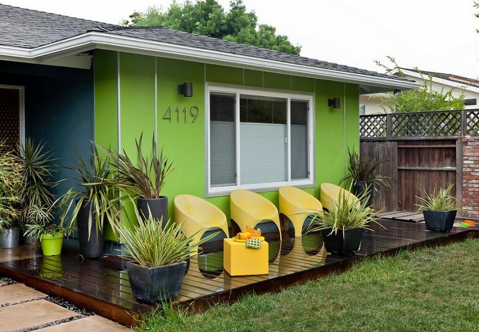 Colorful House - porch