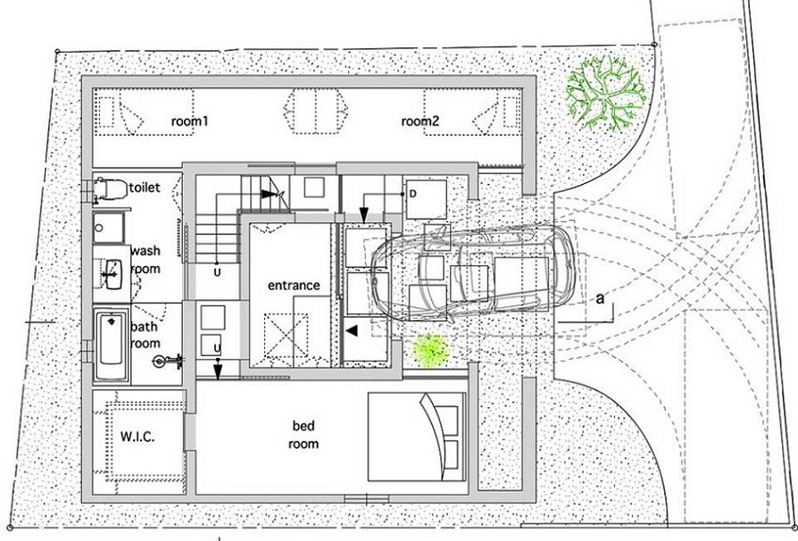 House for cramped places - plan
