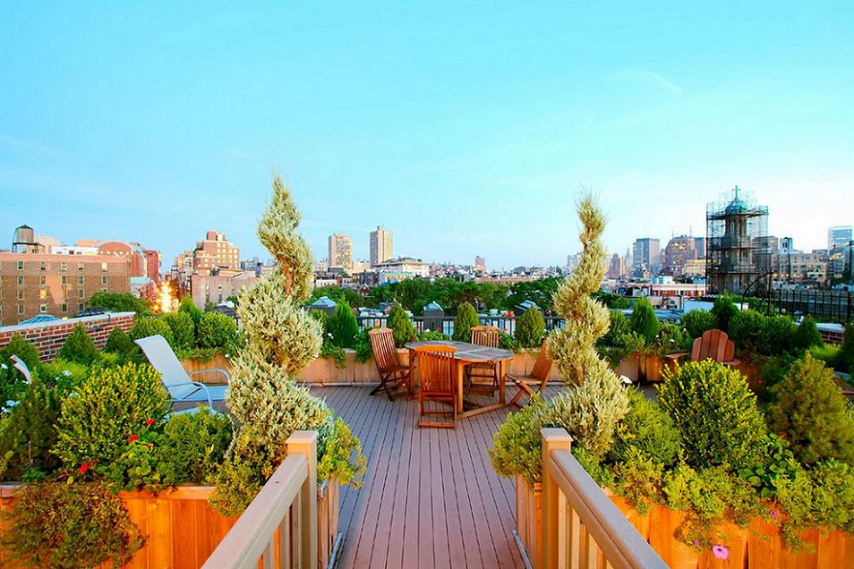 Terrace on the rooftop
