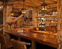 Image Bar superb amenajat intr-o cabana din lemn