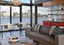 Image Zona de zi deschisa intr-o superba casa plutitoare