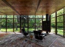 Image Zona destinata relaxarii, cu pereti din otel si sticla