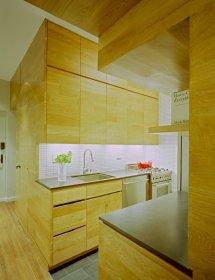 Image Bucatarie moderna intr-un apartament de mici dimensiuni