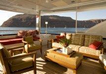 Image Panorama de vis de pe terasa yacht-ului