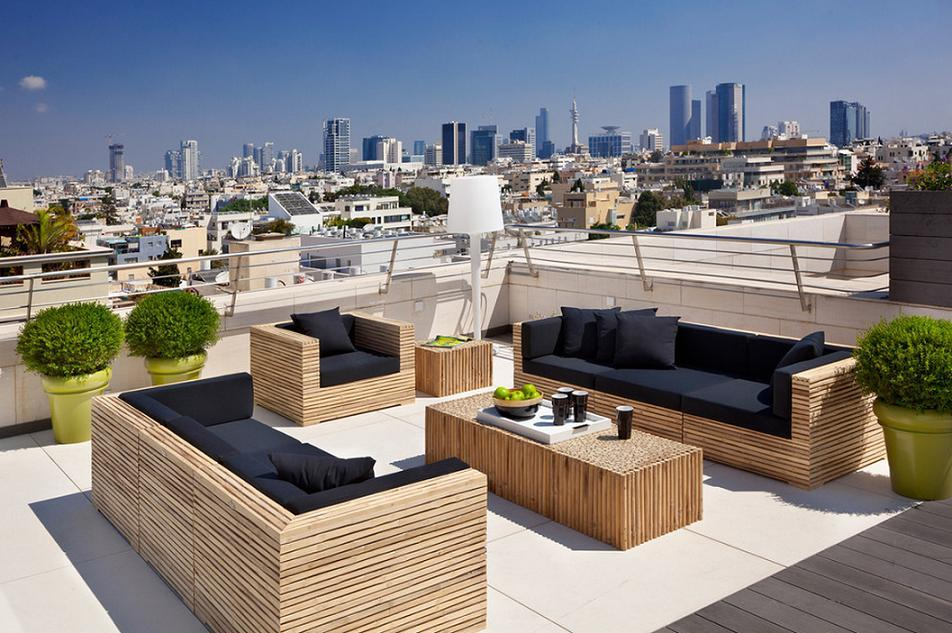 Terrace on te rooftop