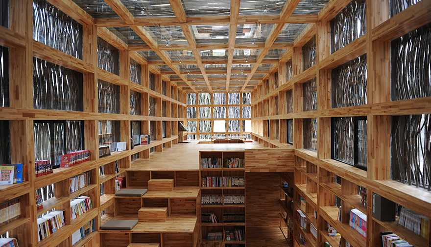 The Library Camouflaged in the Forest