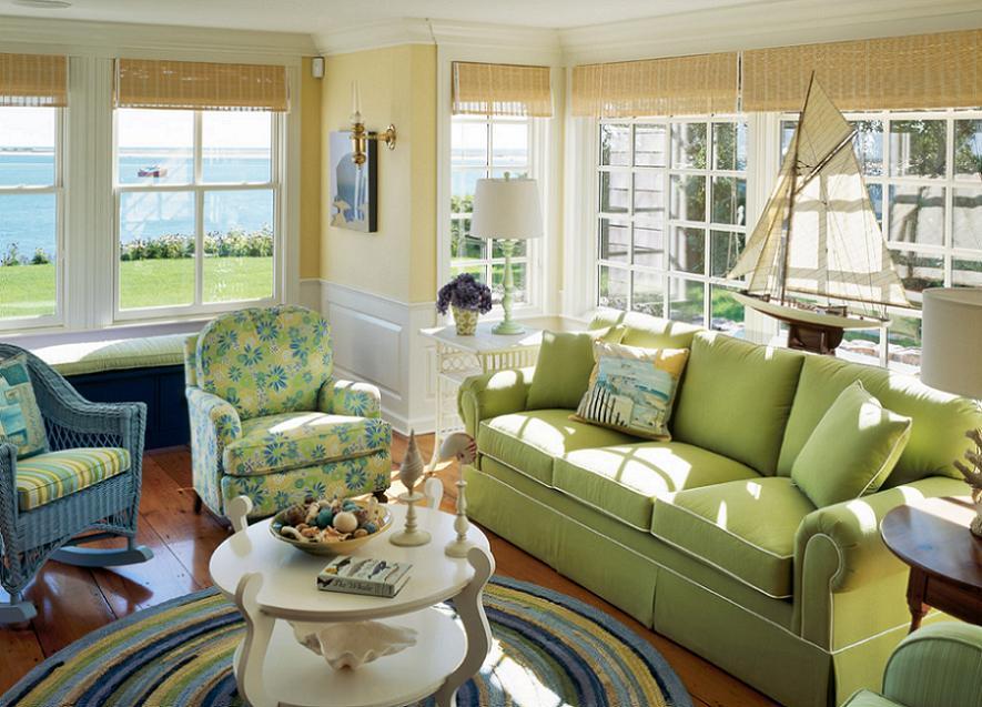 Marine decor in livingroom