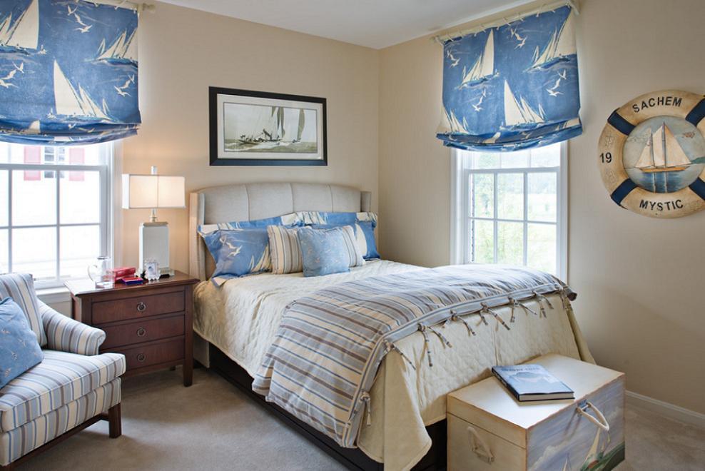 Sea decor in bedroom