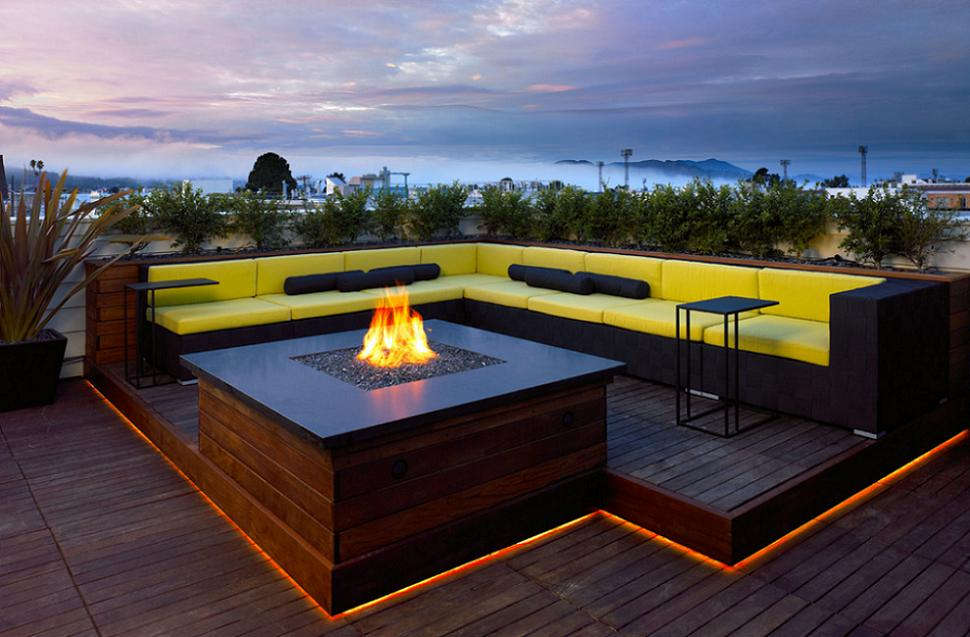 Patio on the rooftop