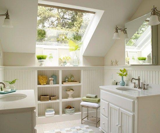 Small bathroom in an attic